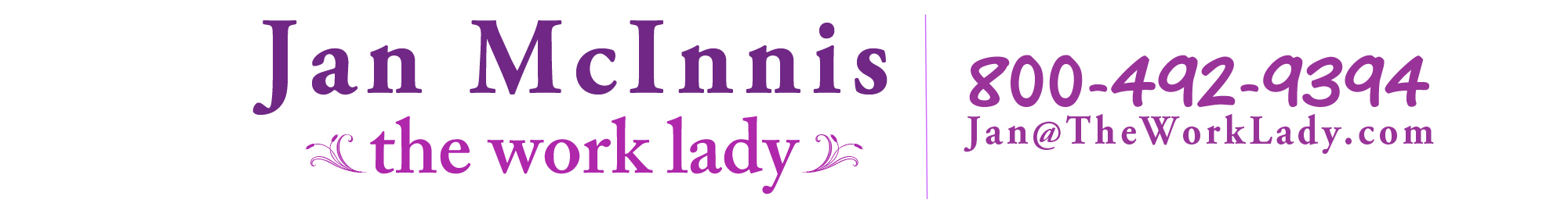 Jan McInnis – The Work Lady®